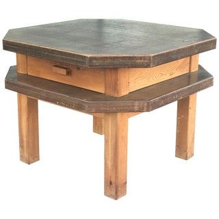 Mid-Century Octagonal Side or Center Table in Walnut For Sale