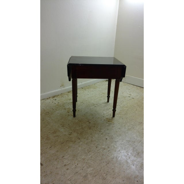 Duncan Phyfe-Style Drop Leaf Side Table - Image 5 of 7