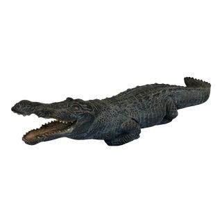 Vintage Alligator Life Size Sculpture For Sale