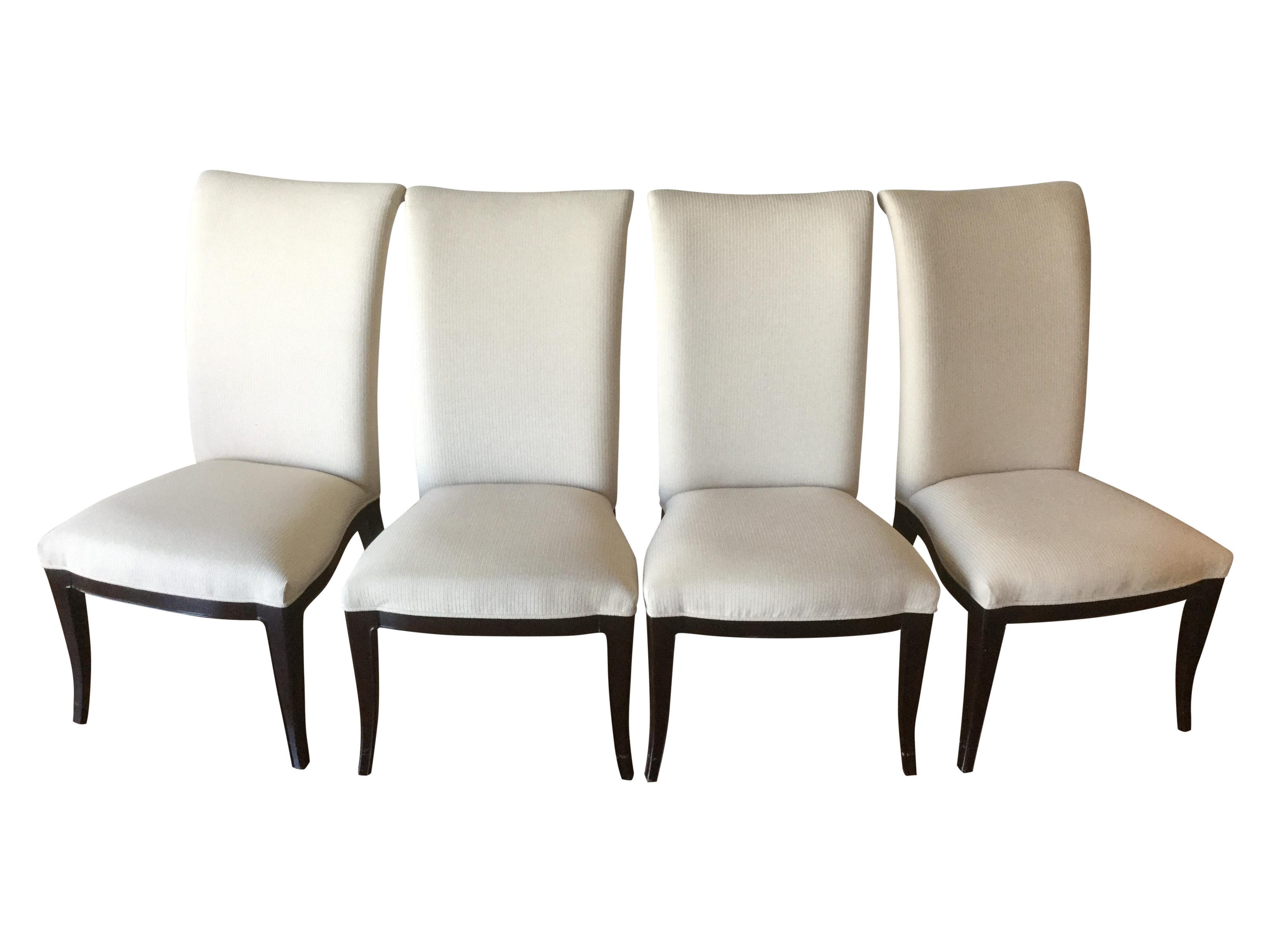 Thomasville Nocturne Upholstered Dining Chairs S/4
