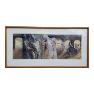 Less Beyler Figural Nude Men's Abstract Paintings