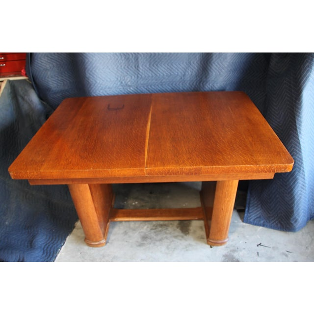 Brown Art Deco Extension Dining Table For Sale - Image 8 of 8