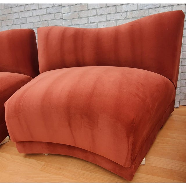 Mid Century Modern Vladimir Kagan for Directional Three Piece Curved Black Sectional Sofa For Sale - Image 9 of 12