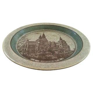 Danish Celadon Castle Bowl For Sale