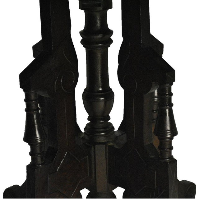 Exceptional Antique Eastlake Victorian Heavily Carved Walnut Parlor Side Table - Image 3 of 9