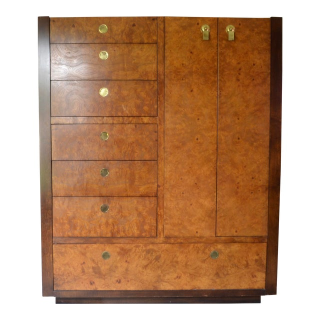 1970s Chinoiserie Century Furniture Olivewood Dresser For Sale
