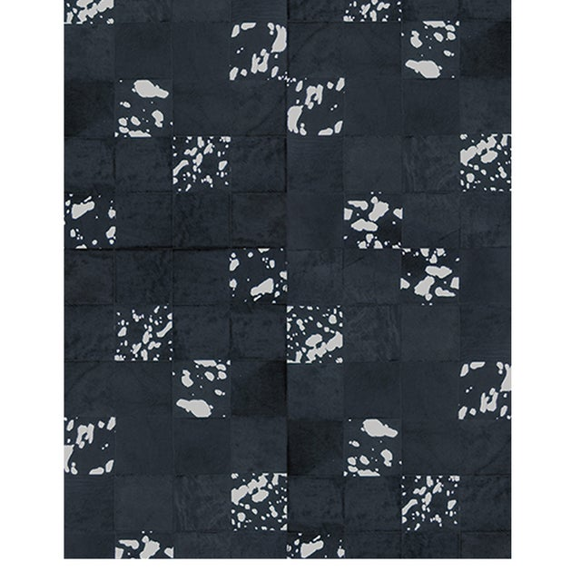 Modern Panel Metal Leathers Rug From Covet Paris For Sale - Image 3 of 3