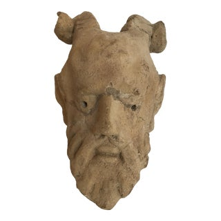 Terra Cotta Satyr Sculpture Figurine For Sale