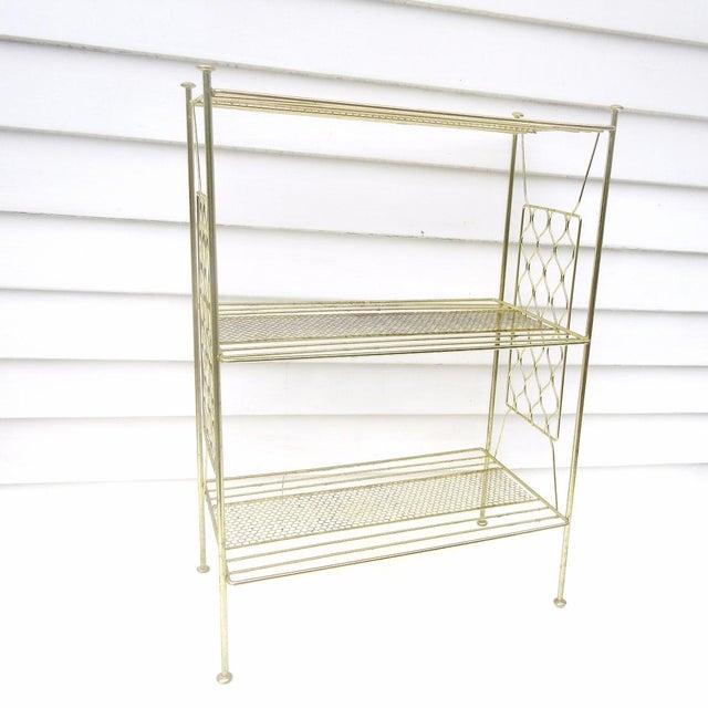 Vintage Metallic Brass Display Shelf - Image 7 of 8