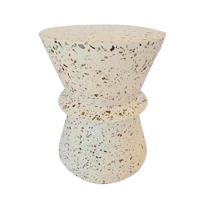 Boho Chic Terrazzo End Table For Sale In Los Angeles - Image 6 of 6