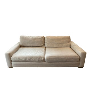 Restoration Hardware Maxwell Upholstered Sofa For Sale