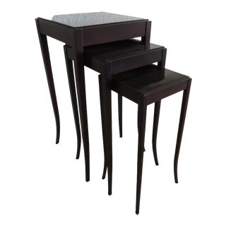 Nesting Tables by Barbara Barry for Baker Furniture - Set of 3 For Sale
