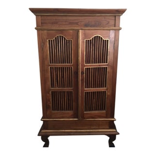 Vintage Traditional French Wooden Armoire For Sale