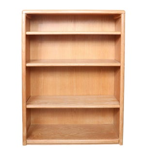 1970s Vintage Mission Style Oak & Plywood Bookcase For Sale