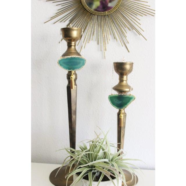 Modern Boho Green/Emerald Agate Holiday Ornament - Image 6 of 6