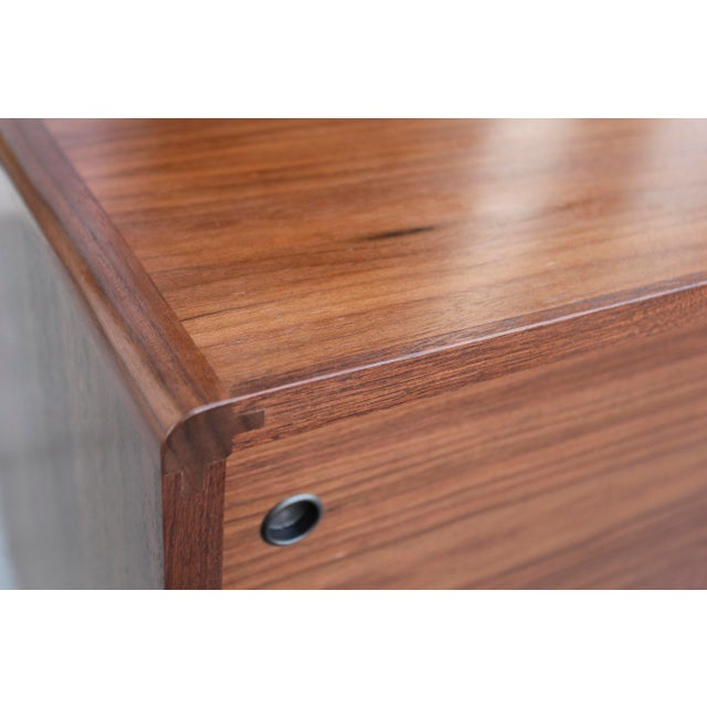 Mid-Century Walnut Credenza For Sale In Los Angeles - Image 6 of 12