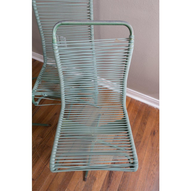 1950s Vintage Ames Aire Cabana Star Line Green Patio Chairs- Set of 4 For Sale - Image 4 of 11