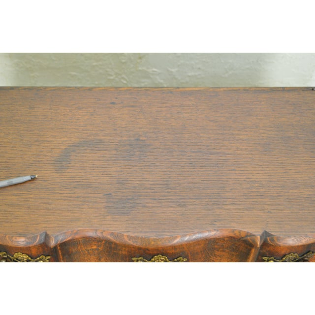 Brown Georgian Style Antique 19th Century English Oak Dropleaf Narrow Console Table For Sale - Image 8 of 11