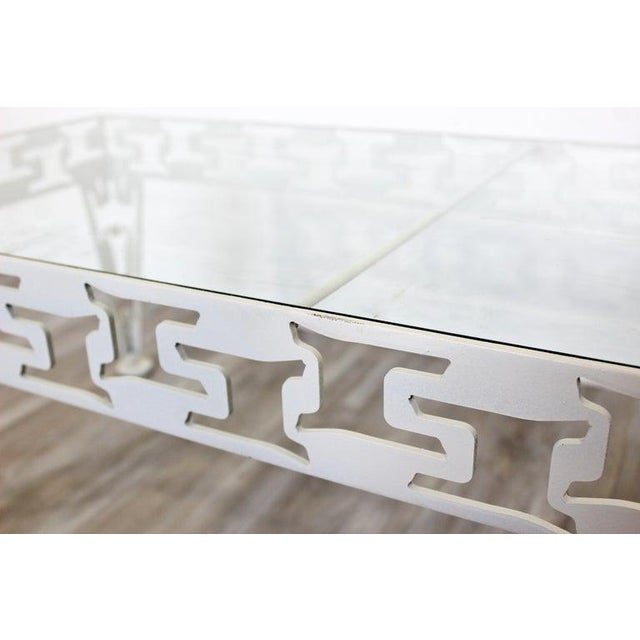 Mid-Century Modern White Set of Patio Tables Coffee Pair Side For Sale In Detroit - Image 6 of 12
