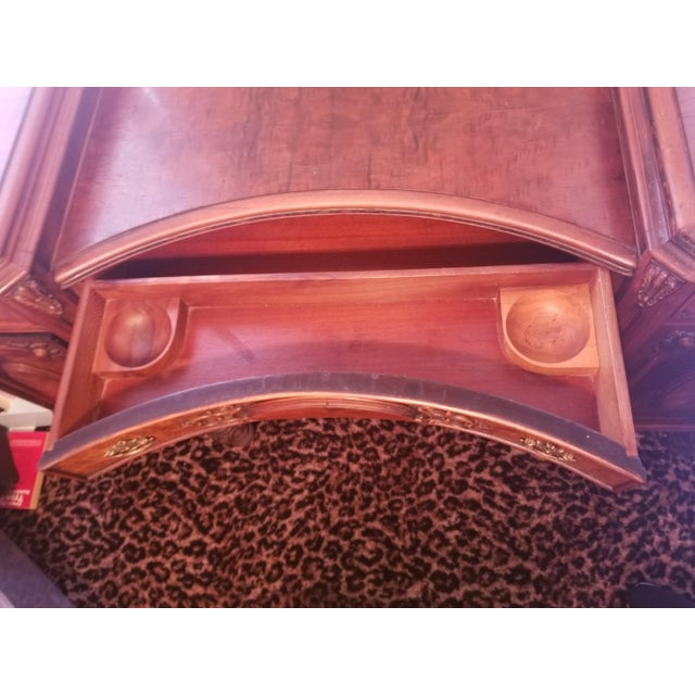 Williamsport Walnut Burl & Mahogany Vanity Table - Image 5 of 11