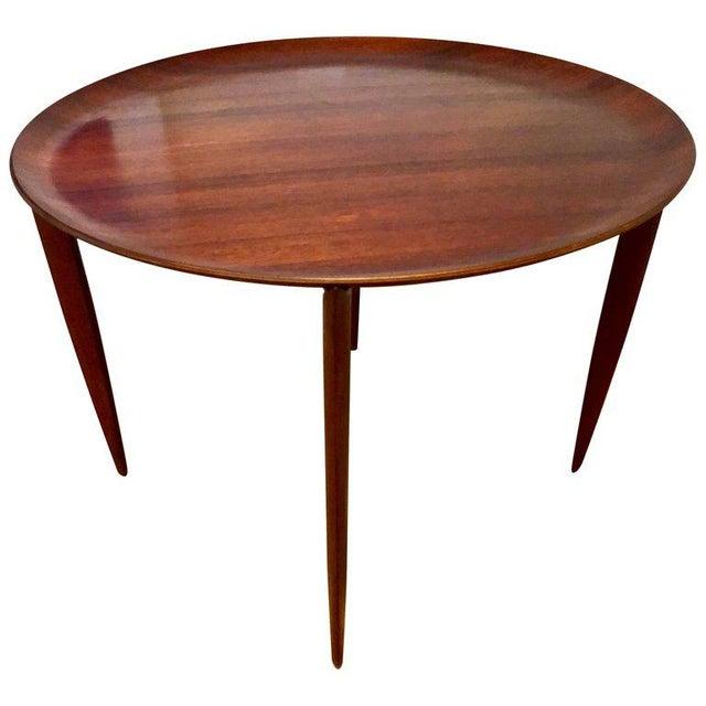 Wood Fritz Hansen Mid-Century Teak Tray Folding Table For Sale - Image 7 of 7