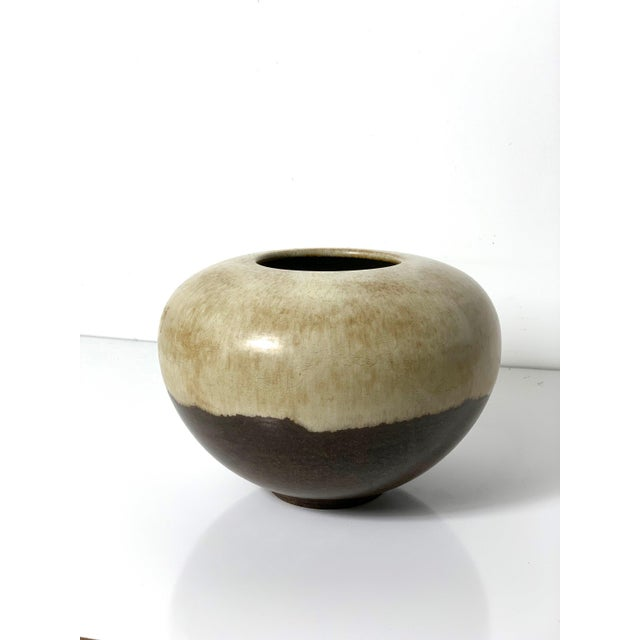 Rare Alvino Bagni Large Earth Tone Vase 1960's For Sale - Image 10 of 10