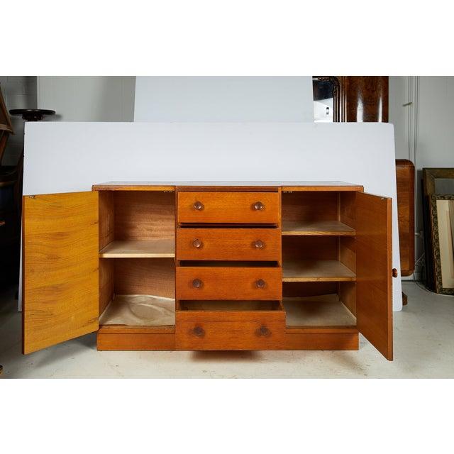 Midcentury English Oak Sideboard For Sale - Image 4 of 13