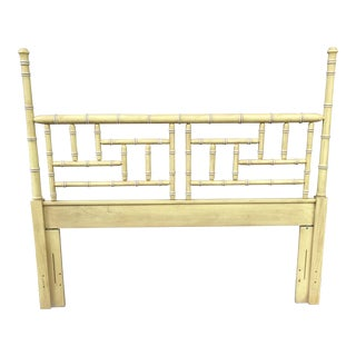 Vintage Faux Bamboo Full/ Queen Headboard For Sale