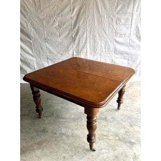 20th Century Traditional Mahogany Rectangular Dining Table on Casters Preview
