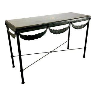 Metal Neoclassical Console For Sale