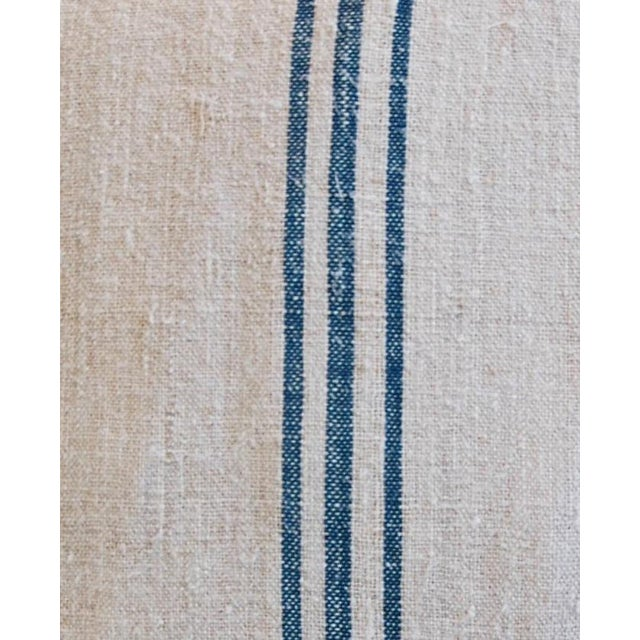 Blue Stripe French Grain Sack Pillows - Pair - Image 10 of 11