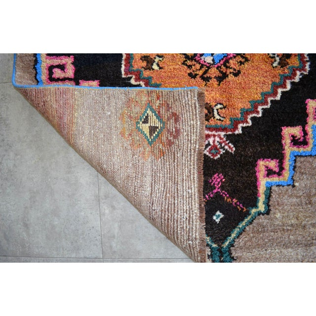 Hand Knotted Natural Colors Full Tribal Design Runner Rug Wide Runner - 3′6″ X 11′4″ For Sale - Image 9 of 11