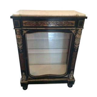 Antique French Boulle Pier Cabinet For Sale
