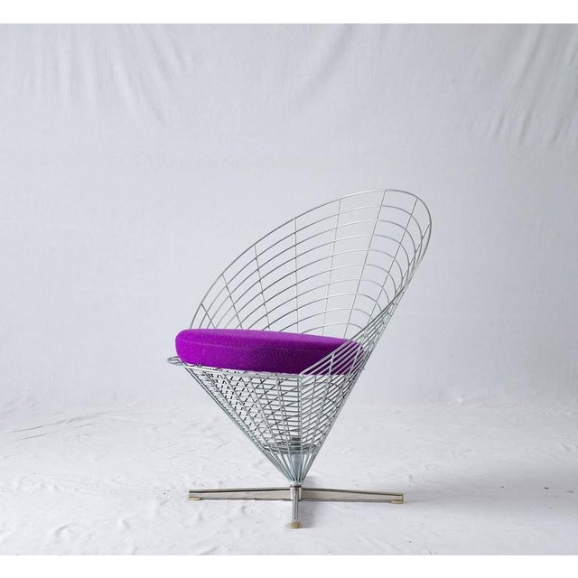 "Abstract Verner Panton ""Wire Cone"" Chair For Sale - Image 3 of 11"