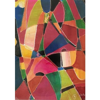 "Abstract Modern ""Vitrales"" – Signed F, 2020 For Sale"
