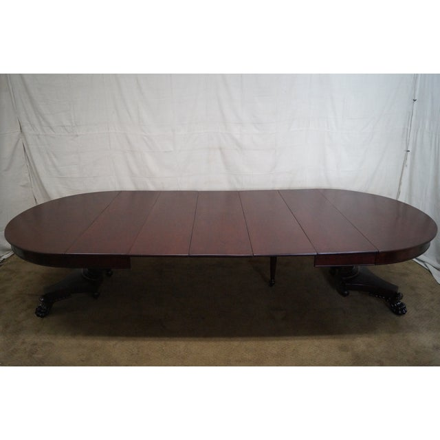 Fine Antique Round Claw Foot Dining Table With 5 Leaves Download Free Architecture Designs Xoliawazosbritishbridgeorg