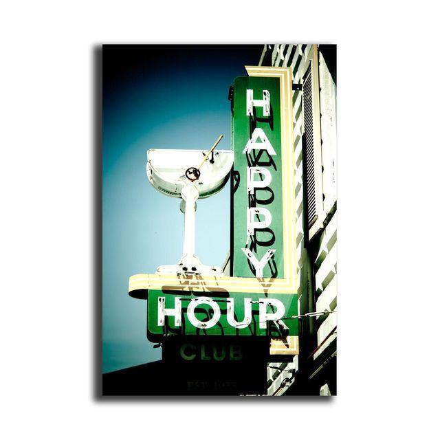 "Jeremy Brooks ""Happy Hour Club"" Floating Print - Image 1 of 2"