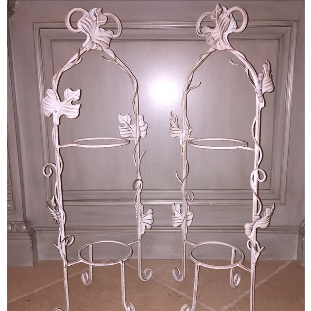White Two-Tier Pastry Display Racks - A Pair - Image 7 of 7