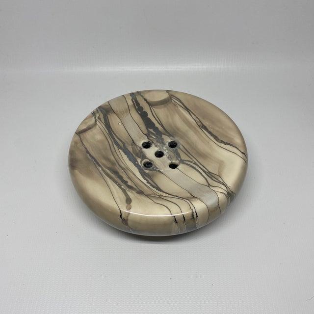 Mid-Century Modern Vintage Nieslen Ceramic Soap Dish For Sale - Image 3 of 13