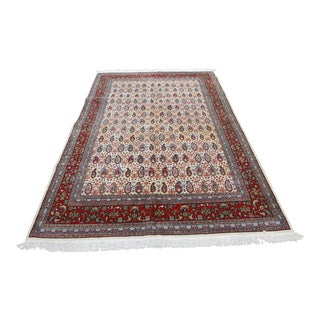 Vintage High Quality Wool on Cotton Turkish Hereke Rug For Sale