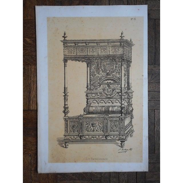 Antique Folio Size Furniture Lithograph - Image 2 of 3
