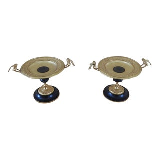 19th Century Antique Gilt Bronze Neoclassical Tazza or Clock Garnishments - a Pair For Sale