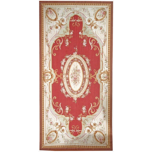 "Pasargad Aubusson Hand Woven Wool Rug- 11' 0"" X 16' 0"" - Image 3 of 3"