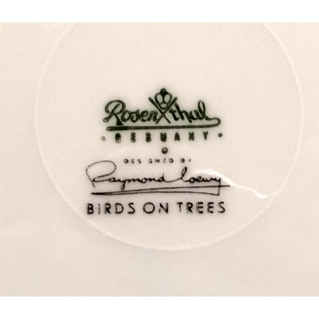 1960s 1960s Vintage Raymond Loewy for Rosenthal Birds on Trees Porcelain Plate For Sale - Image 5 of 7