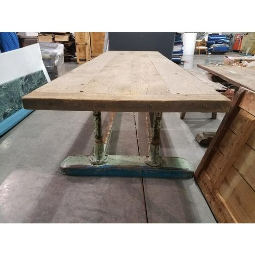 Fabulous dining/console table from France. This one of a kind table makes quite the statement. It's base was originally a...