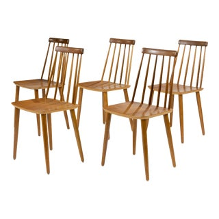 Folke Palsson Style Dining Chairs- Set of 5 For Sale