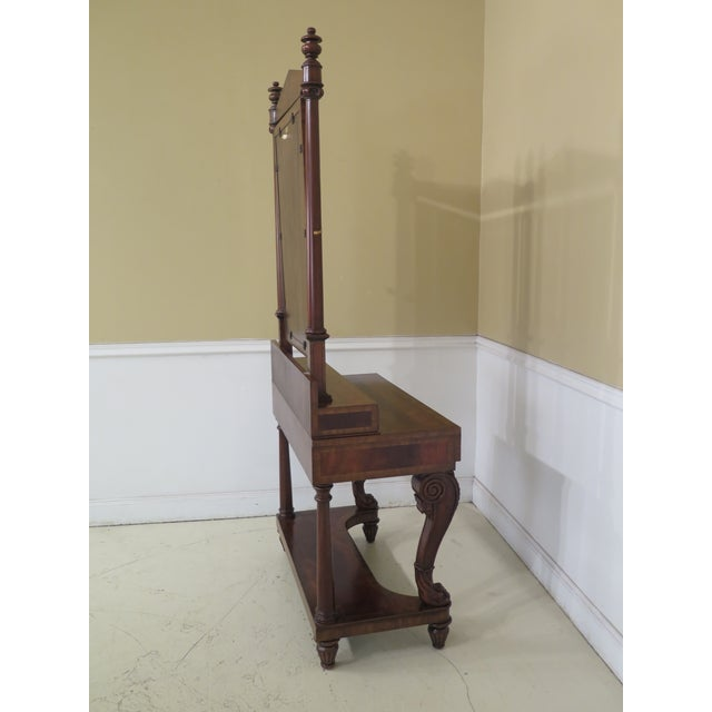 Maitland Smith Figural Mahogany Empire Dressing Vanity For Sale - Image 11 of 13