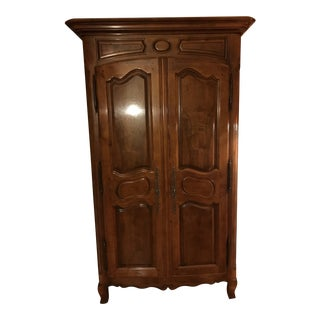 Solid Cherry Wood Armoire For Sale
