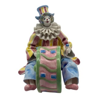 Vintage Italian Gruppo Del Quattro for Gumps Ceramic Clown Musician For Sale