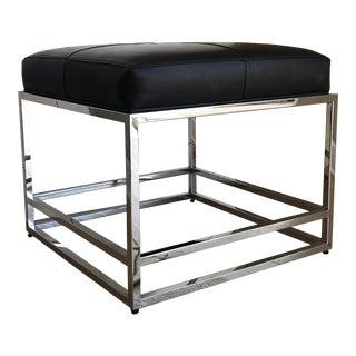 Vanguard Furniture Black Leather Bench For Sale